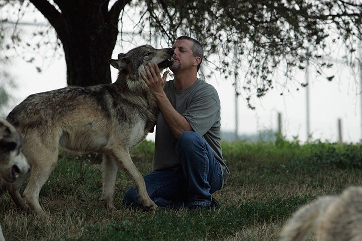 Kevin with wolf - 2